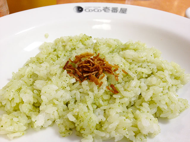 Steamed Rice Dressed in Genovese Sauce