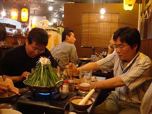 Drs. A and CHONPS with Mt. Fuji Nabe