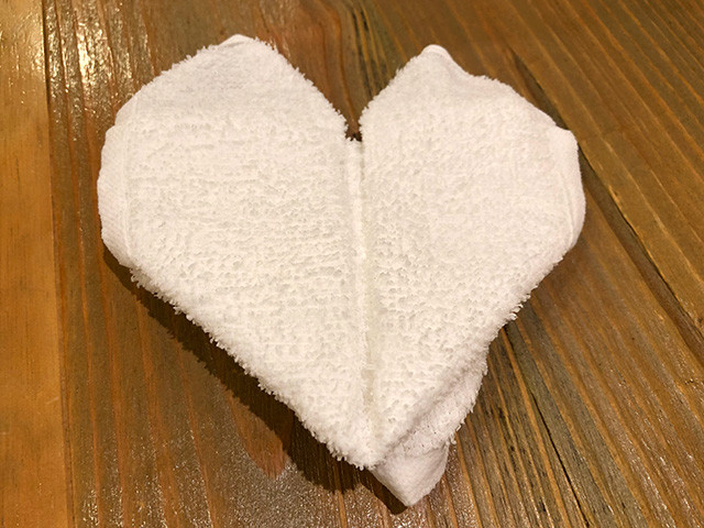 Heart-Shaped Towel