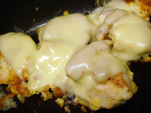 Grilled Chicken Breast with Egg and Cheese