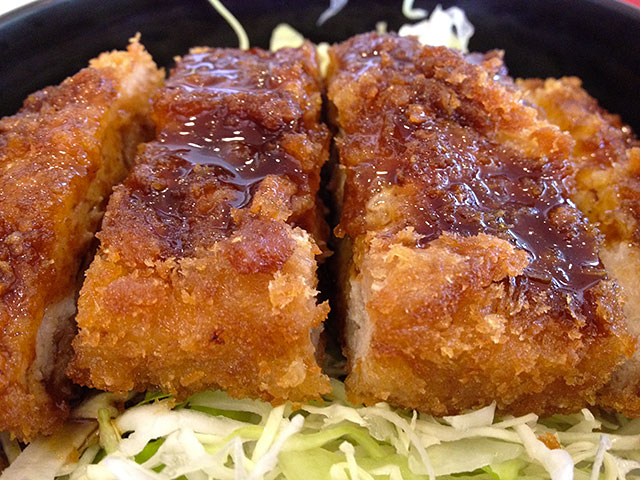 Deep Fried Pork Cutlet Bowl with Worcestershire Sauce