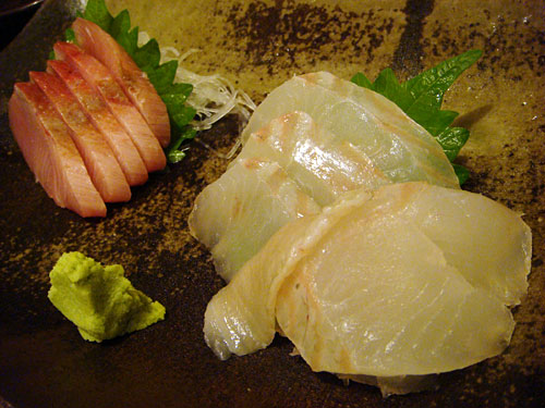 Sashimi of Yellowtail and Flatfish
