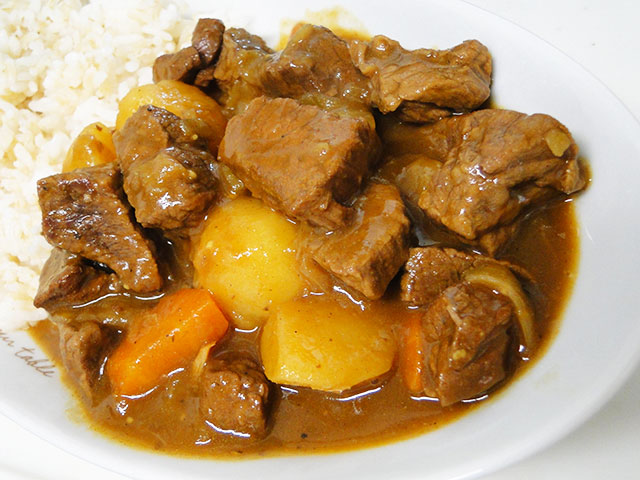 Homemade Low Fat Beef Curry with Rice