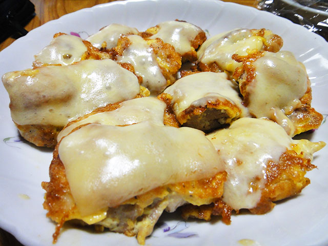 Grilled Chicken with Egg and Cheese