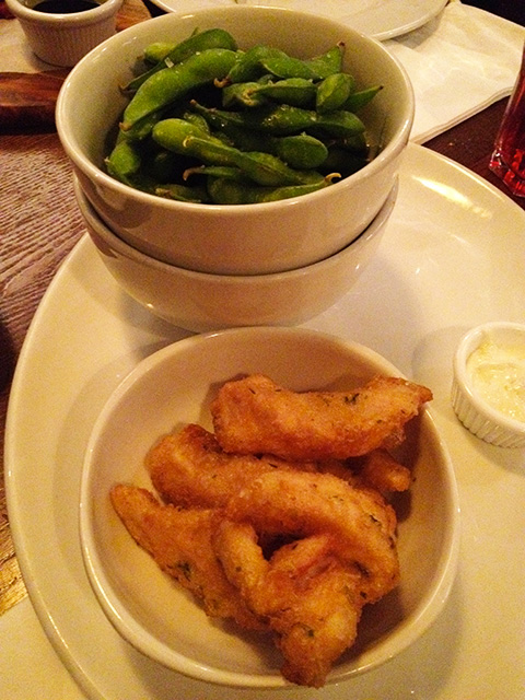 Edamame and Fried Chicken of Builders Arms
