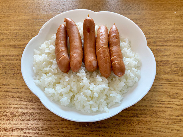Sausages and Rice