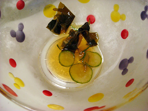 Vinegared Seaweed and Cucumber
