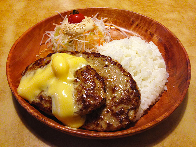 Parent-and-Child Burg Dish with Cheese