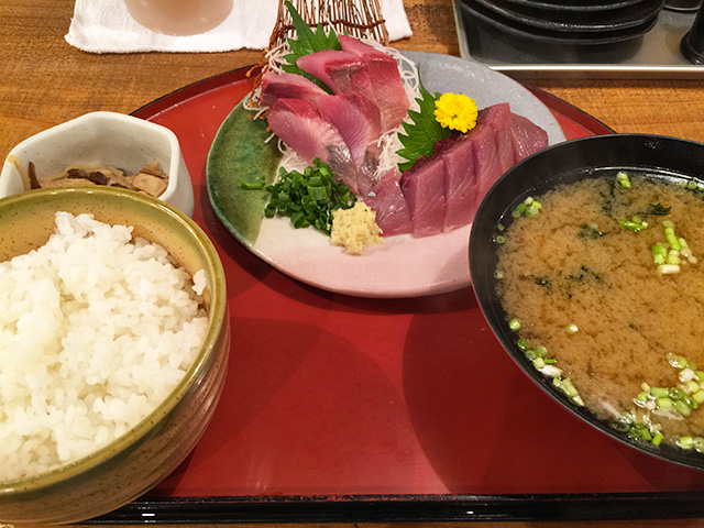 Bonito Sashimi Set Meal