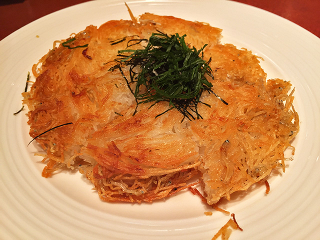 Shredded Potato Pancakes with Whitebait