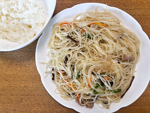 Rice and Pan-Fried Rice Noodles