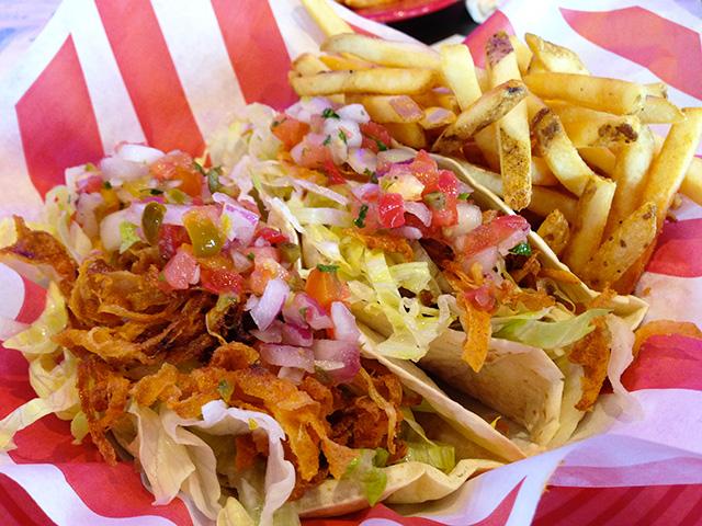 BBQ Burger Tacos