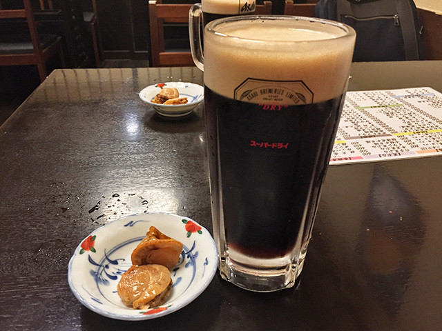 Black Beer and Stewed Mushrooms