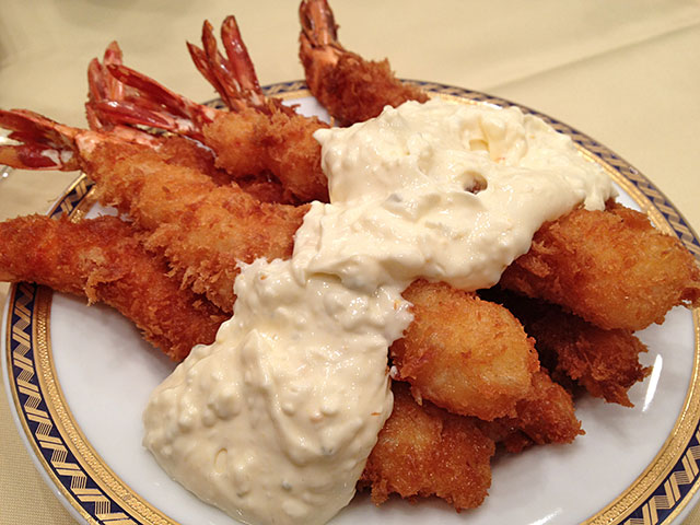 Deep Fried Prawns with Tartar Sauce