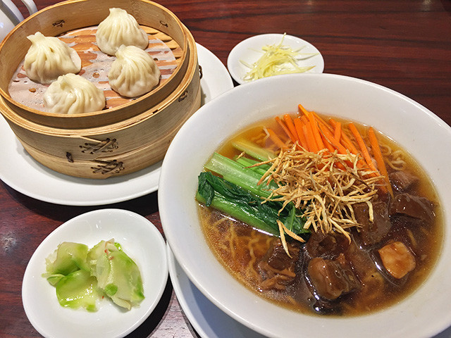 Soup Noodle with Deep-Fried Burdock and Beef Set