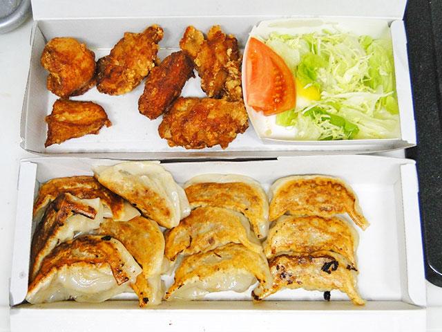 Gyoza and Fried Chicken