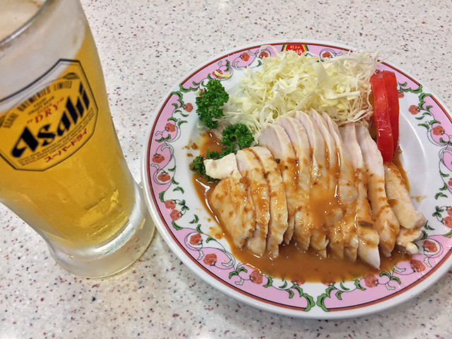 Steamed Chicken with Sesame Sauce and Beer