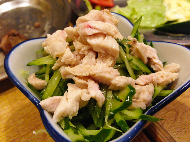 Steamed Chicken with Cucumber