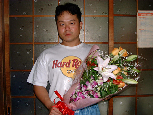Dr. MaCHO with Flowers