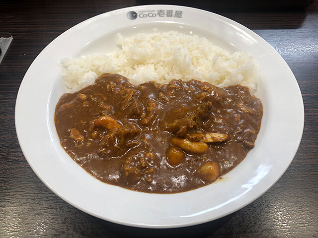 Beef Curry with Stewed Chicken and Stewed Shrimps