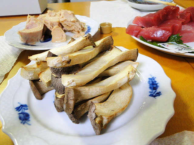 Grilled Eringi Mushrooms