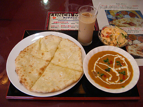 Mutton Curry with Cheese Nan