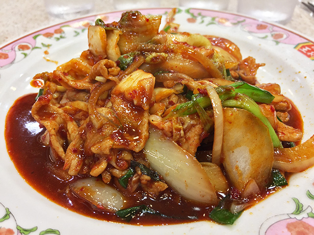 Pork with Kimuchi Spice Sauce