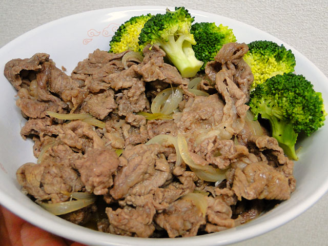 Beef Bowl with Broccoli