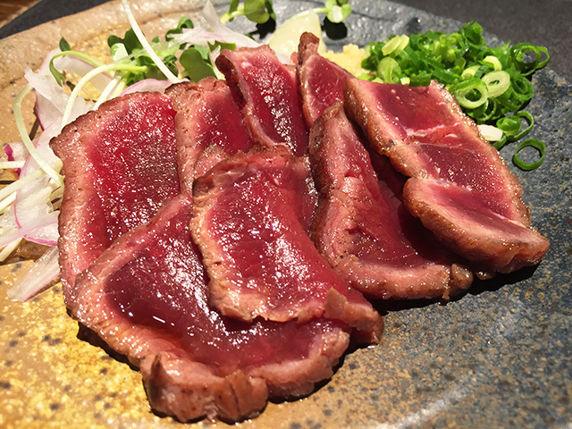 Seared Whale Meat