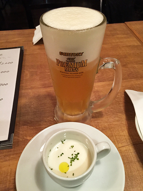 Cold Potato Soup and Beer