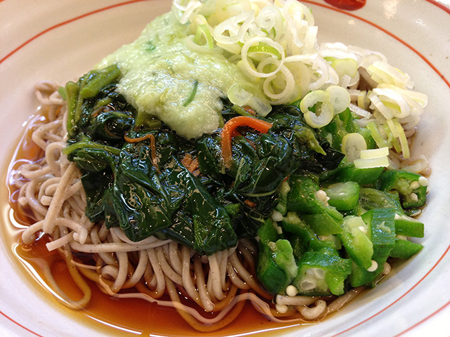 Sticky Soba with Green Vegetables