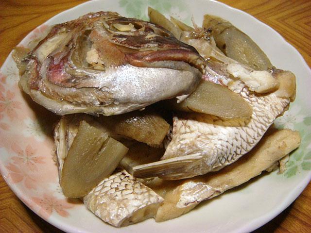 Boiled Sea Bream