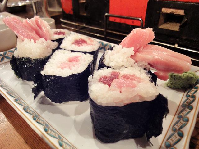 Sushi Roll with Raw Tuna & Green Onion