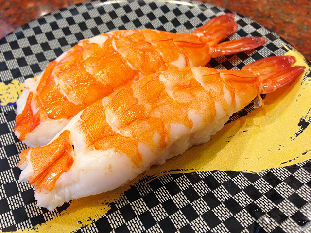 Steamed Prawn Nigiri Sushi