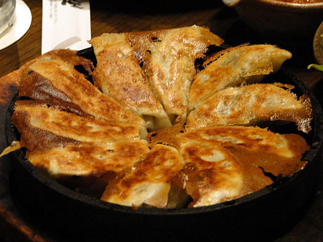 Iron Pan-Fried Gyoza Dumplings