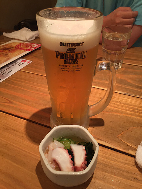 Vinegared Octopus and Beer