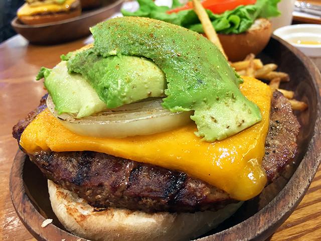 Thick Cheddar Cheese Avocado Burger