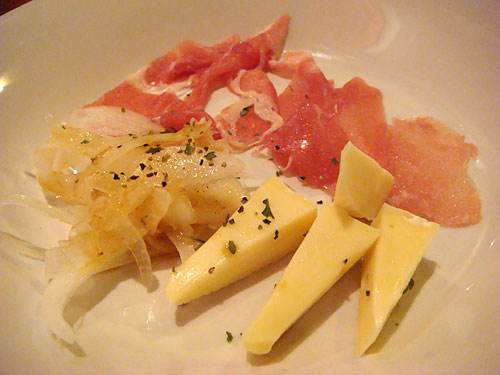 Raw Ham and Cheese
