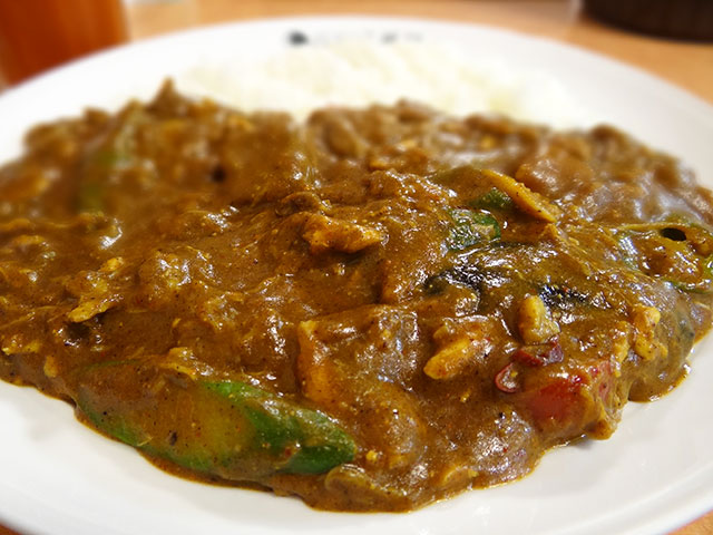 Chicken and Summer Vegetables Curry with Various Toppings