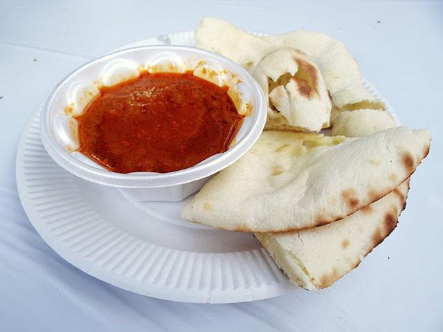 Keema Curry and Cheese Nan