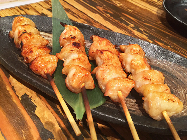 Broiled Skewered Chicken Tails