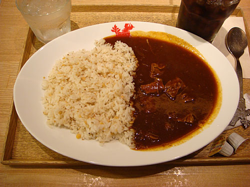 Classic Beef Curry with Iced Coffee