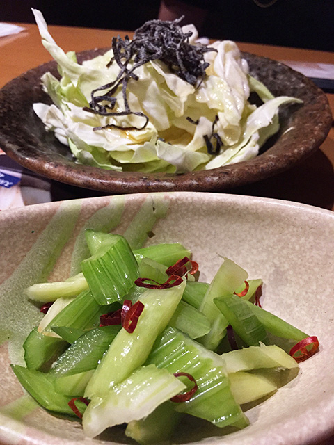Cabbage and Pickled Celery