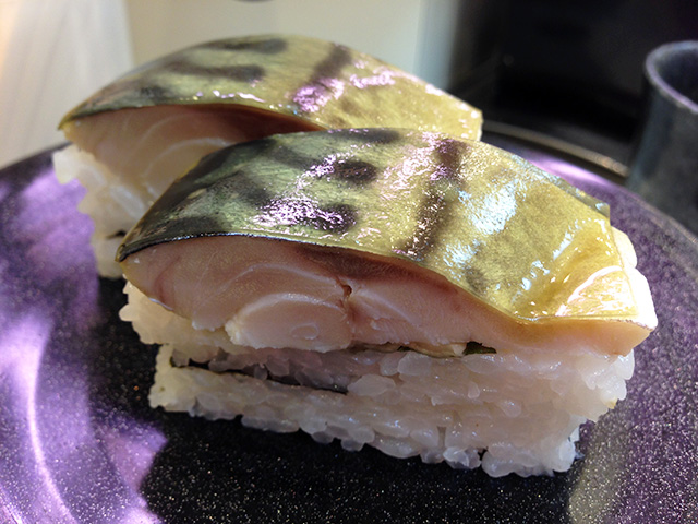 Pressed Mackerel Sushi
