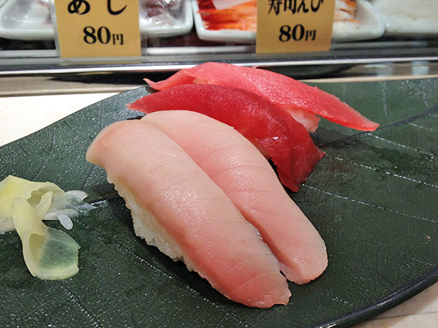 Albacore and Tuna Nigiri Sushi