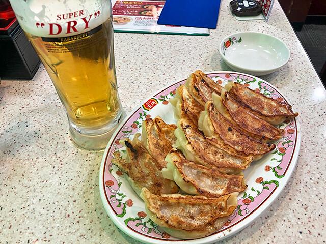 Gyoza and Draft Beer