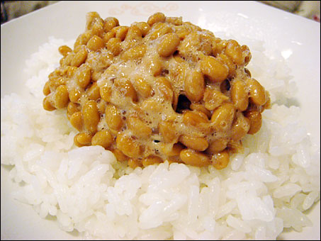 Natto and Rice