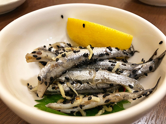 Pickled Sardine with Sesame