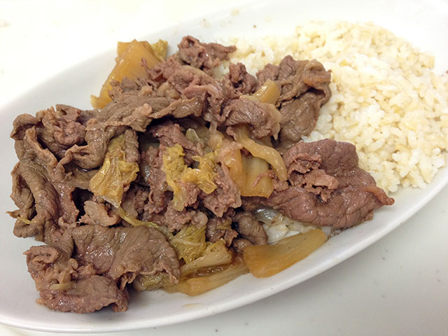 Stewed Beef and Sprouted Brown Rice