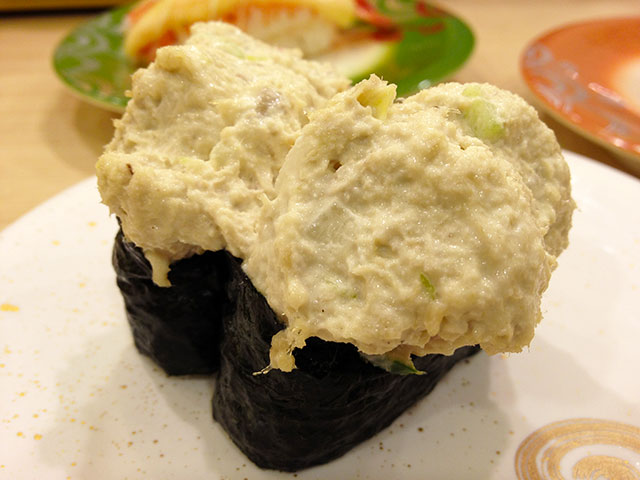 Tuna Salad Nigiri Sushi